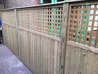 trellis fence W2 Shephards Bush london