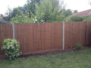closeboard fence with concrete posts