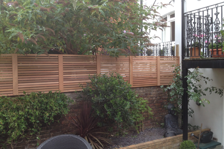Slatted Screen Fencing West London Fencing